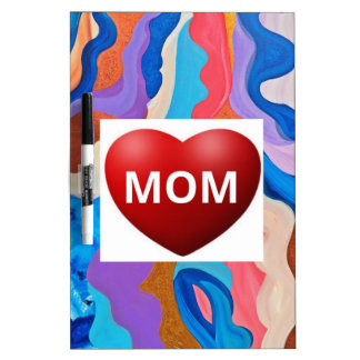 Feather Love Mom Dry Erase Board