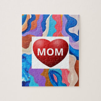 Feather Love Mom Jigsaw Puzzle