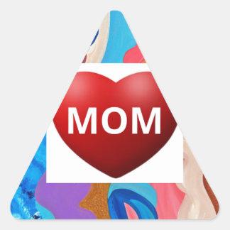 Feather Love Mom Triangle Sticker