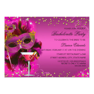 Masquerade Bachelorette Party Cards Invitations Greeting