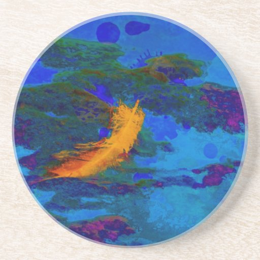 Feather Of Hope Beverage Coaster