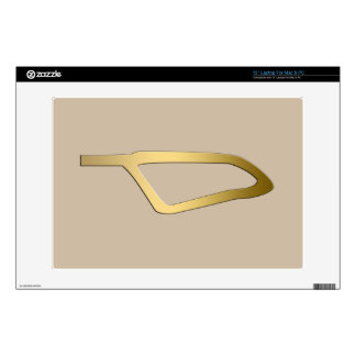 """Feather of Maat Egyptian symbol Decals For 13"""" Laptops"""