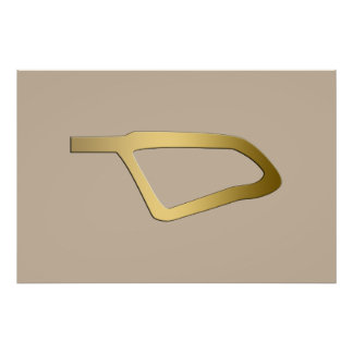 Feather of Maat Egyptian symbol Poster