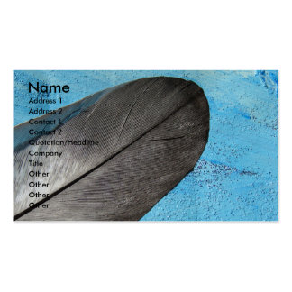 Feather on Blue Background Business Card
