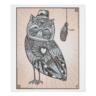 FEather Owl Poster