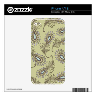 Feather Pattern Decals For The iPhone 4