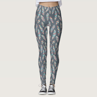 feather Pattern design Leggings