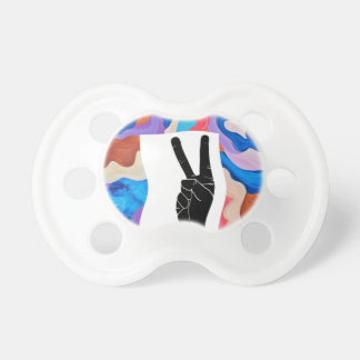 Feather Peace BooginHead Pacifier