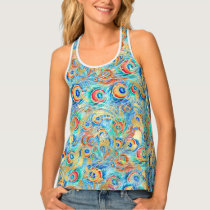 Feather peacock tank top