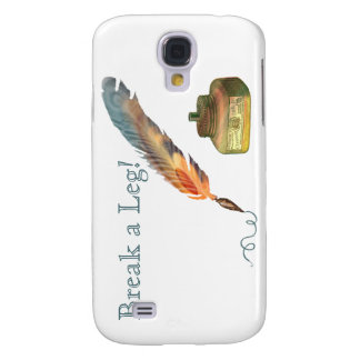 Feather Pen Break a Leg Samsung Galaxy S4 Covers