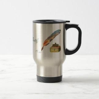 Feather Pen Break a Leg 15 Oz Stainless Steel Travel Mug