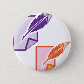 Feather Pen Button