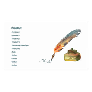Feather Pen Double-Sided Standard Business Cards (Pack Of 100)
