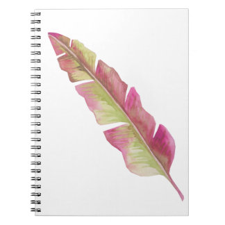 Feather, pink and green - Photo notebook