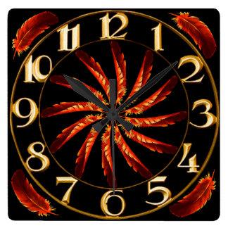 Feather Pinwheel Wall Clock