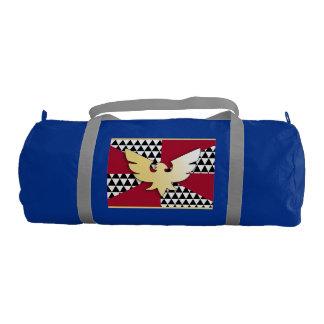 FEATHER PRIDE FLAG GYM DUFFEL BAG
