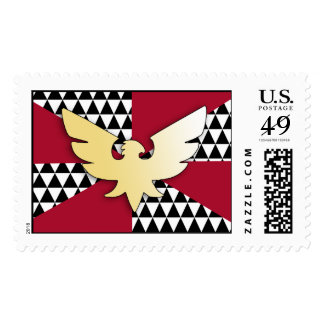 FEATHER PRIDE FLAG POSTAGE STAMPS