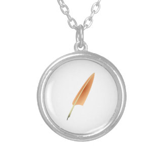 Feather Quill Pen Custom Necklace