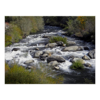 Feather River White Water Print