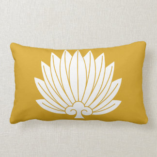 Feather round fan lumbar pillow
