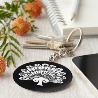 Feather round fan of 鷹 keychain
