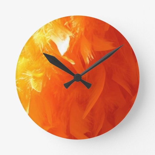 Feather Round Wall Clock