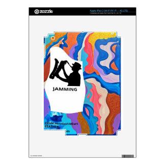 Feather Saxophone Jamming iPad 3 Skin