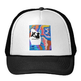 Feather Saxophone Jamming Trucker Hat