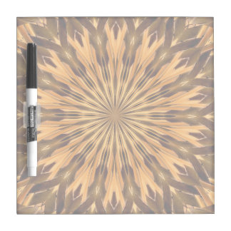 Feather Shield Medallion Square Dry Erase Boards