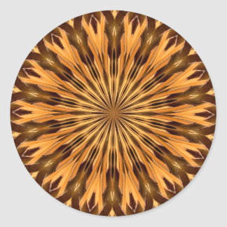 Feather Shield Medallion Sticker