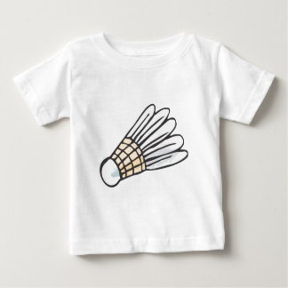 Feather Shuttlecock in Hand-drawn Style Baby T-Shirt
