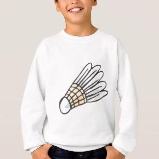 Feather Shuttlecock in Hand-drawn Style Sweatshirt