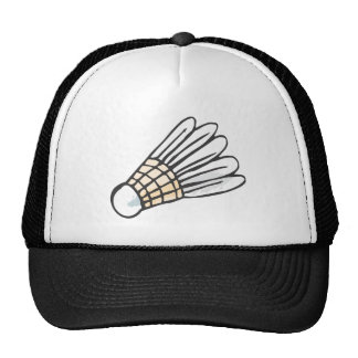 Feather Shuttlecock in Hand-drawn Style Trucker Hat