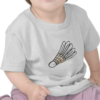 Feather Shuttlecock in Hand-drawn Style T-shirts