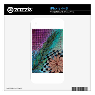 feather iPhone 4 skins