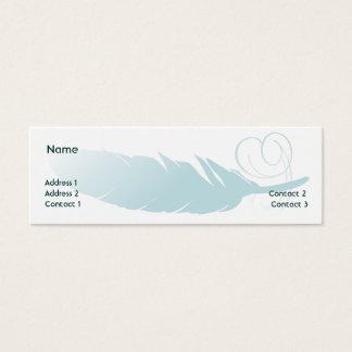 Feather - Skinny Mini Business Card
