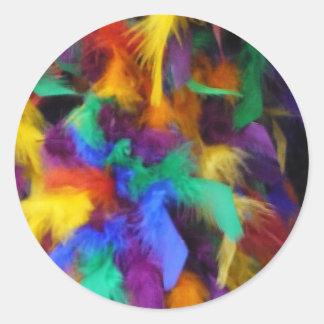 Feather soft round sticker