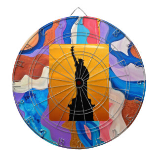 Feather Statue Of Liberty Dartboard With Darts