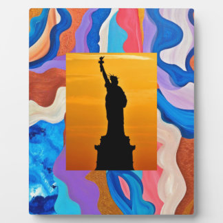 Feather Statue Of Liberty Plaque