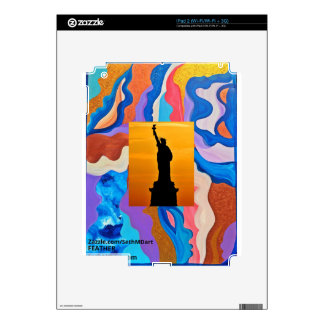 Feather Statue Of Liberty Skin For The iPad 2