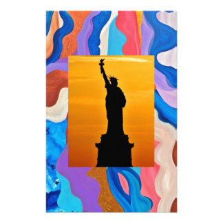 Feather Statue Of Liberty Stationery