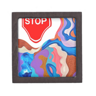 Feather Stop Sign Gift Box