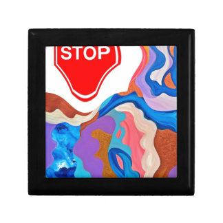 Feather Stop Sign Jewelry Box
