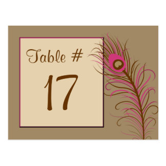 Feather Table Number Card