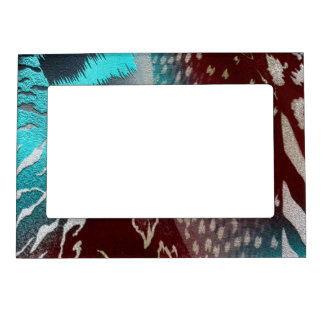 Feather Texture Template Magnetic Photo Frame
