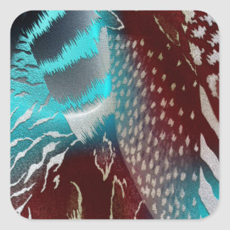 Feather Texture Template Stickers
