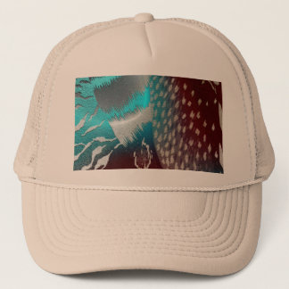 Feather Texture Template Trucker Hat
