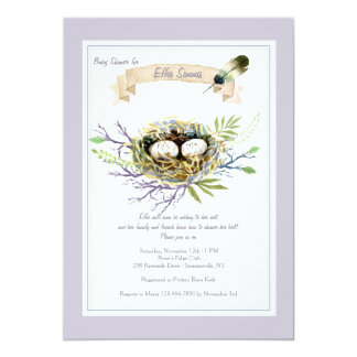Feather Their Nest Baby Shower Invitation