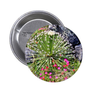 Feather-tipped Succulent Pinback Button