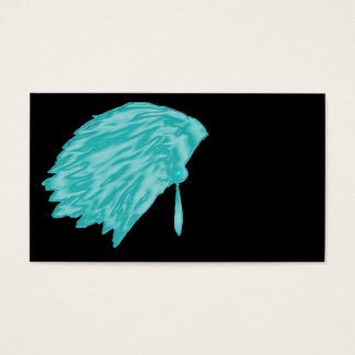 feather,top,native business card,blue, business card
